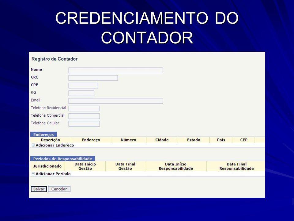 CREDENCIAMENTO DO CONTADOR