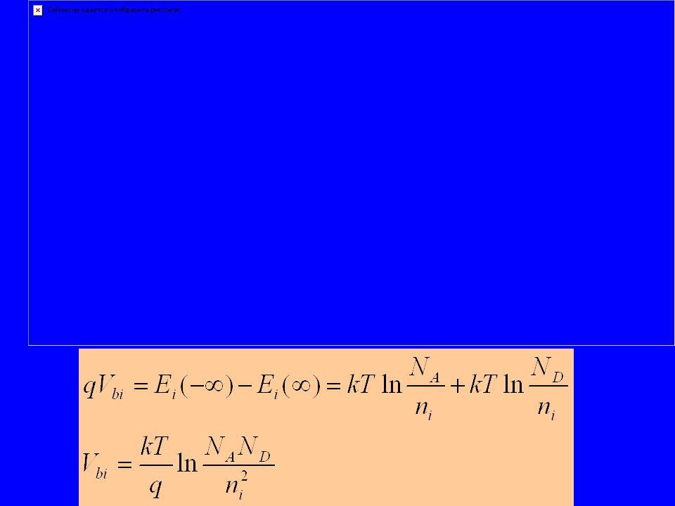 Usar equação de difusão de minoritários para obter p(x) Analogamente: