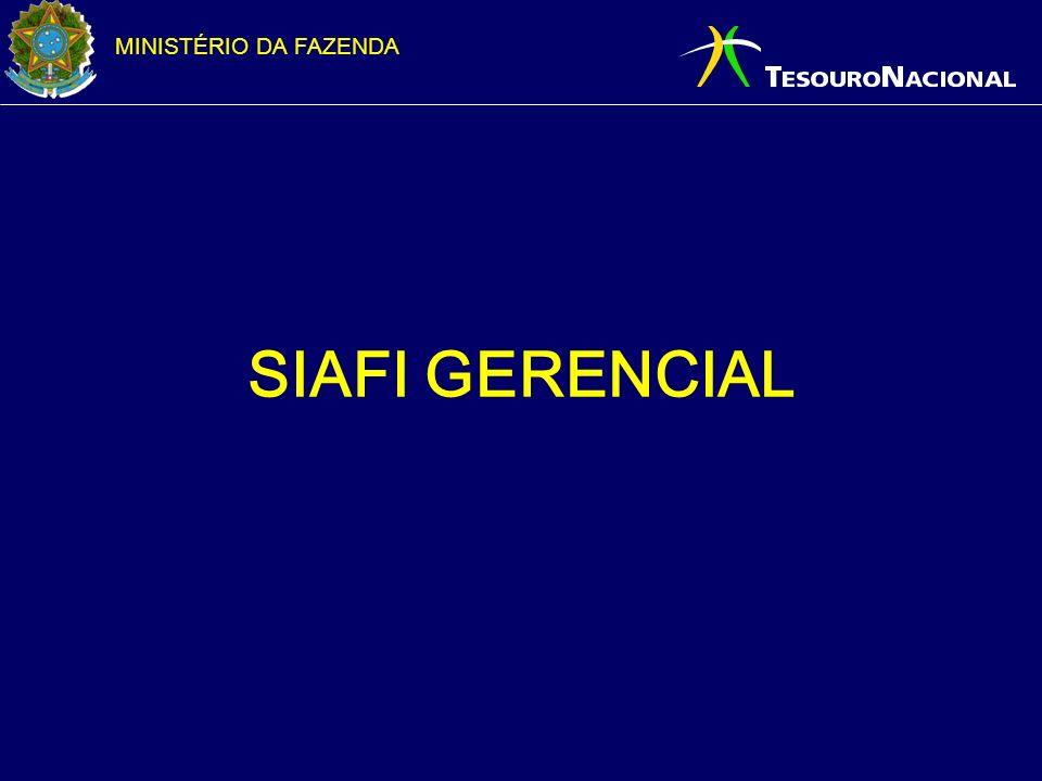 MINISTÉRIO DA FAZENDA SIAFI GERENCIAL
