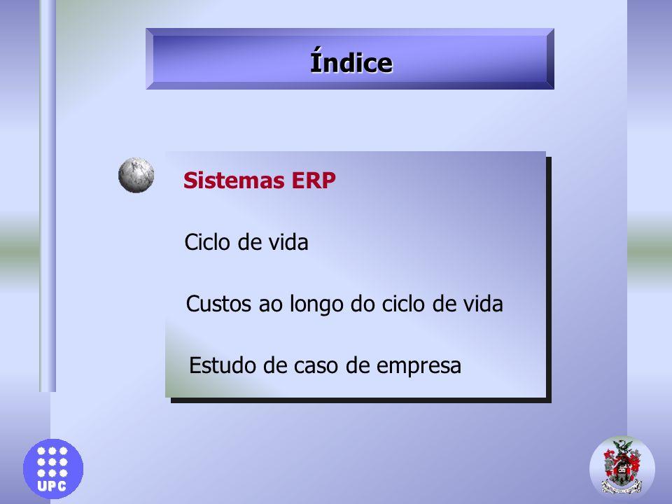 Sistemas ERP: Importância u Benefícios em 1999 em software e serviços de $18,3 bilhões u Mais do 60% das empresas Fortune-1000 têm sistema ERP 30% SAP 14% Oracle 7% Peoplesoft 5% J.