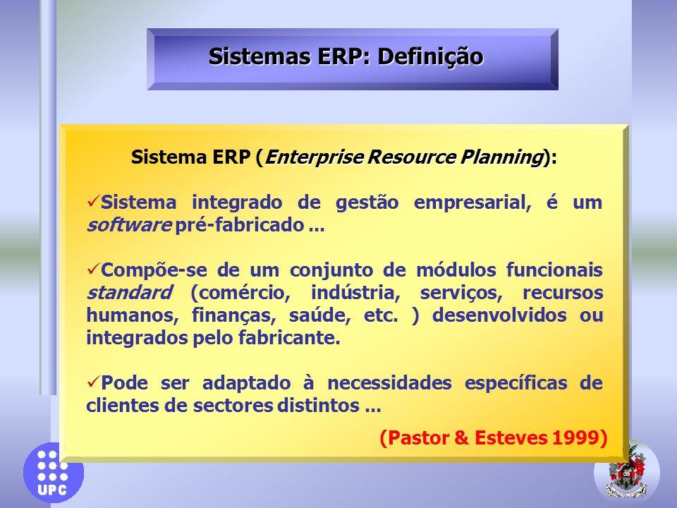 Conclusões A implementação possui maior peso nos custos associado ao sistema ERP, principalmente, em relação a custos de consultoria e hardware necessário ao projeto.
