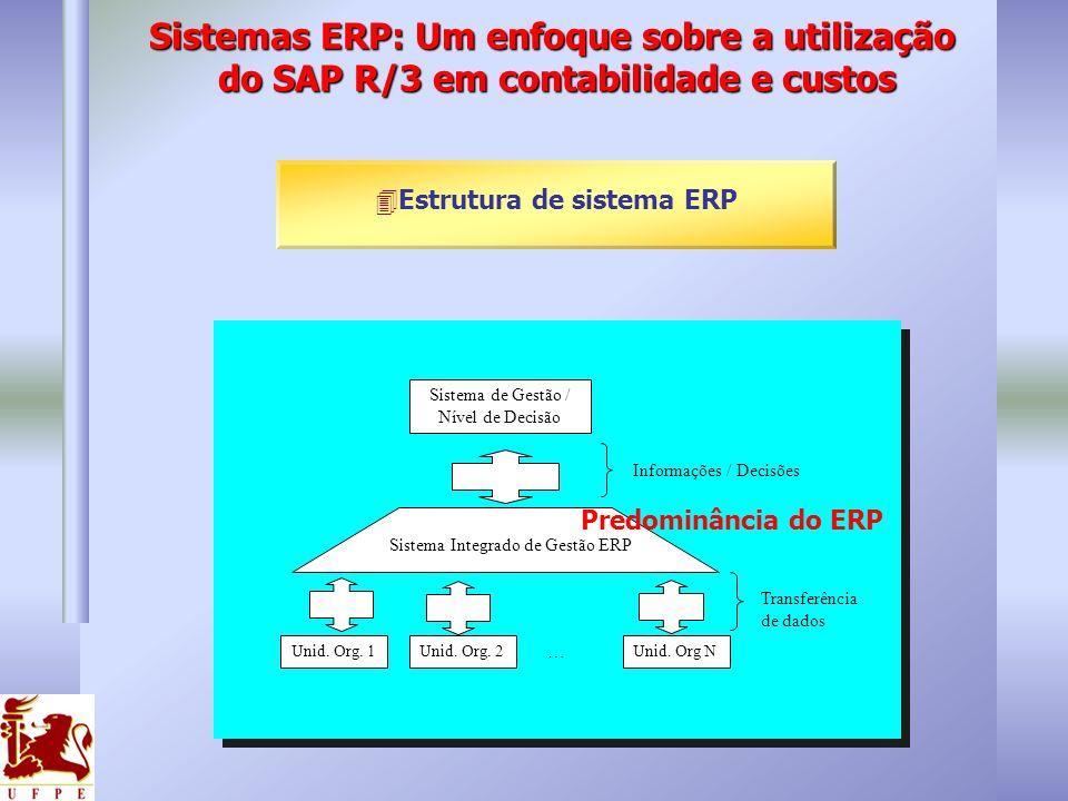 4Estrutura de sistema ERP Unid. Org. 1Unid. Org. 2 … Unid. Org N Transferência de dados Informações / Decisões Sistema de Gestão / Nível de Decisão Si