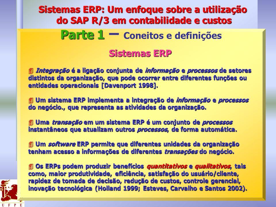 Sistemas ERP 4 Integração é a ligação conjunta de informação e processos de setores distintos da organização, que pode ocorrer entre diferentes funçõe