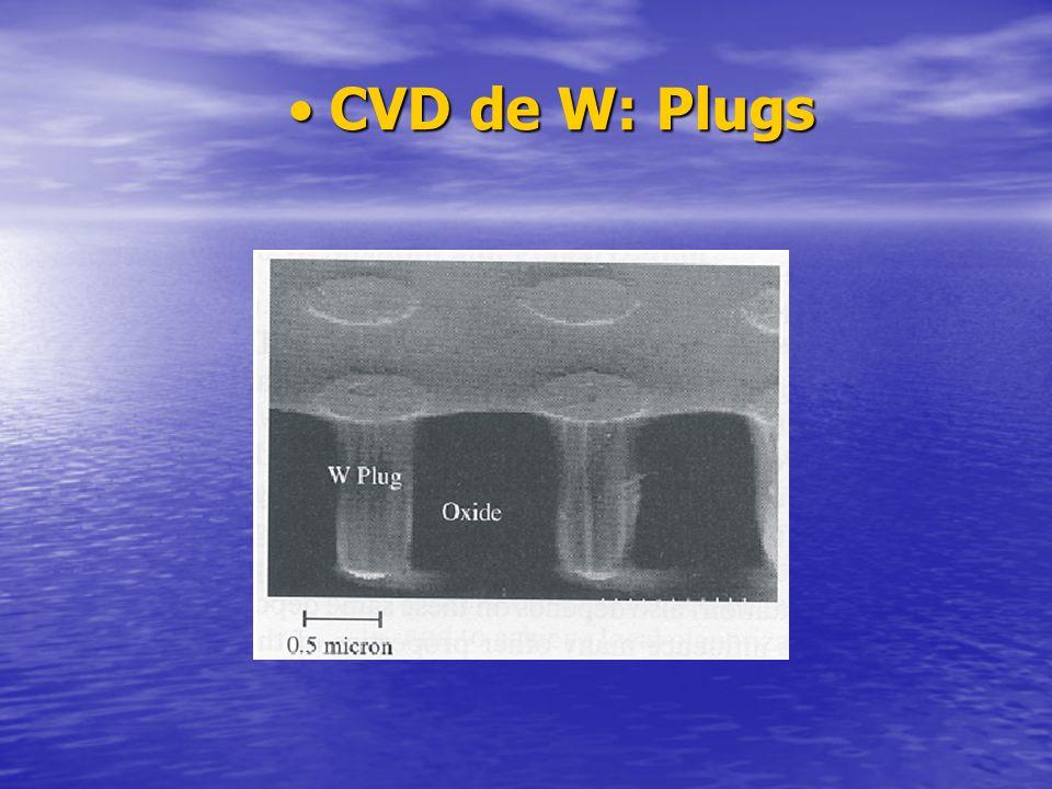 CVD de W: PlugsCVD de W: Plugs