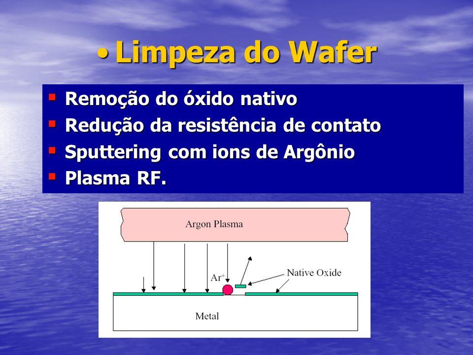 Limpeza do WaferLimpeza do Wafer Remoção do óxido nativo Remoção do óxido nativo Redução da resistência de contato Redução da resistência de contato S
