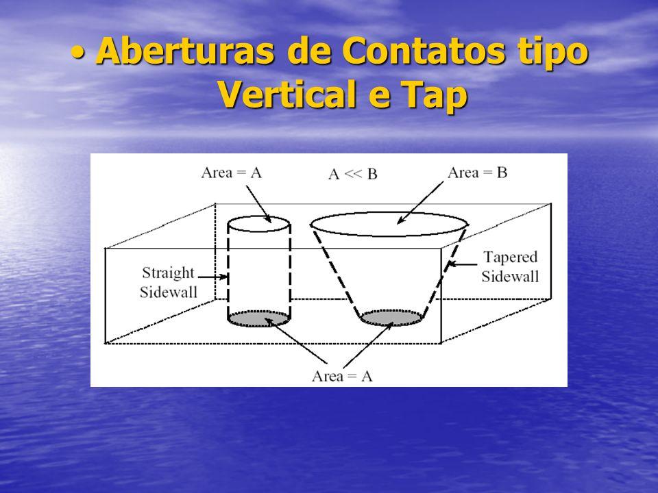 Aberturas de Contatos tipo Vertical e TapAberturas de Contatos tipo Vertical e Tap