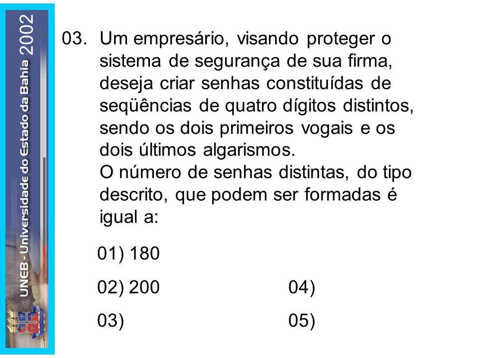 04.A área de uma face, a área total e o volume de um cubo são, nessa ordem, termos consecutivos de uma progres- são geométrica.