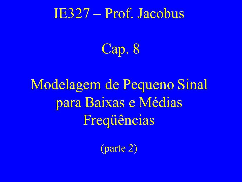 IE327 – Prof. Jacobus Cap. 8 Modelagem de Pequeno Sinal para Baixas e Médias Freqüências (parte 2)
