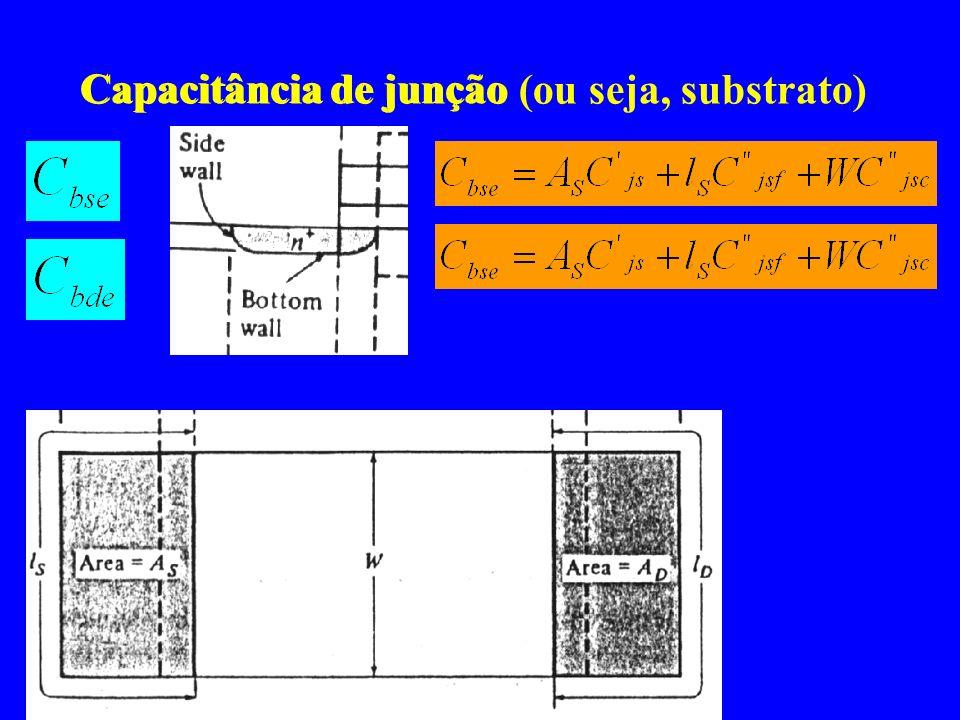 Capacitância de junção Capacitância de junção (ou seja, substrato)