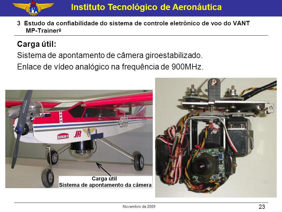Instituto Tecnológico de Aeronáutica Novembro de 2009 23 3 Estudo da confiabilidade do sistema de controle eletrônico de voo do VANT MP-Trainer g Carg