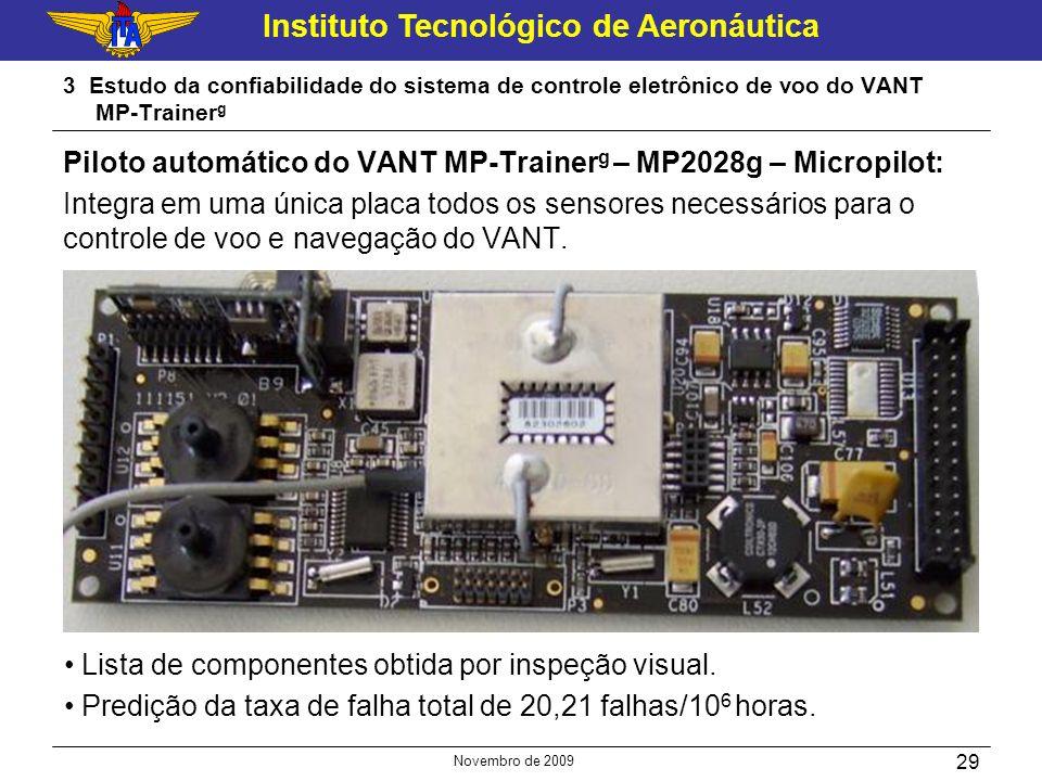 Instituto Tecnológico de Aeronáutica Novembro de 2009 29 3 Estudo da confiabilidade do sistema de controle eletrônico de voo do VANT MP-Trainer g Pilo