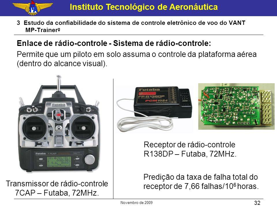 Instituto Tecnológico de Aeronáutica Novembro de 2009 32 3 Estudo da confiabilidade do sistema de controle eletrônico de voo do VANT MP-Trainer g Enla