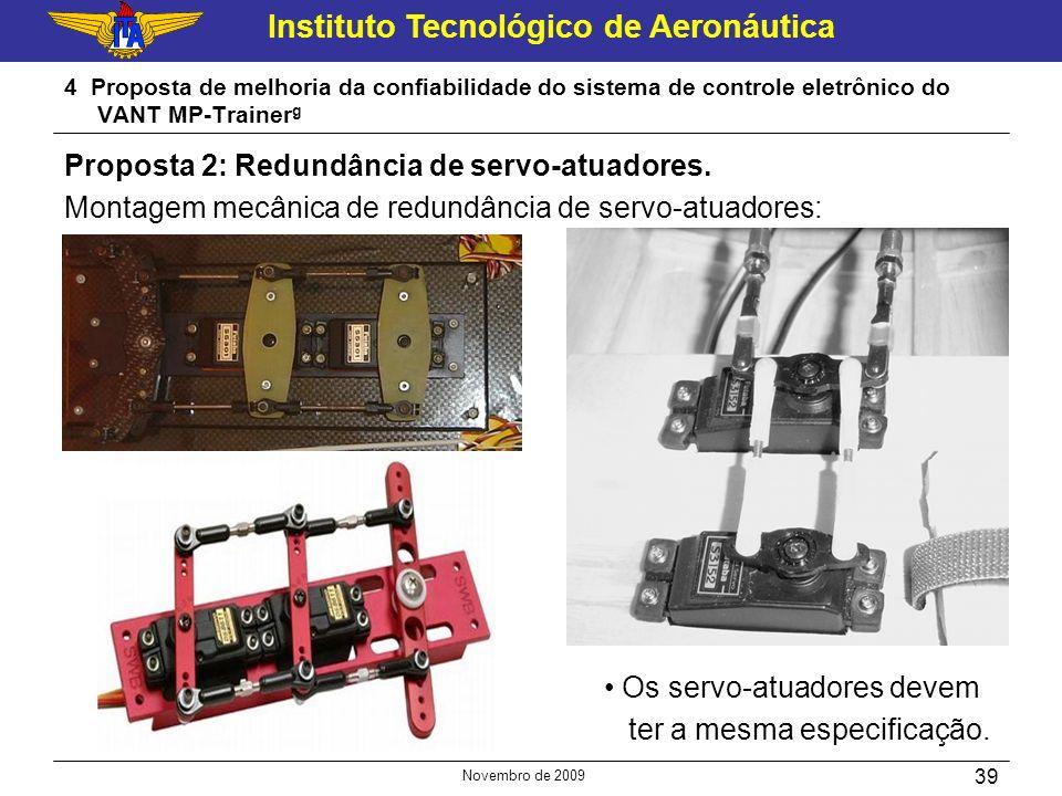 Instituto Tecnológico de Aeronáutica Novembro de 2009 39 4 Proposta de melhoria da confiabilidade do sistema de controle eletrônico do VANT MP-Trainer