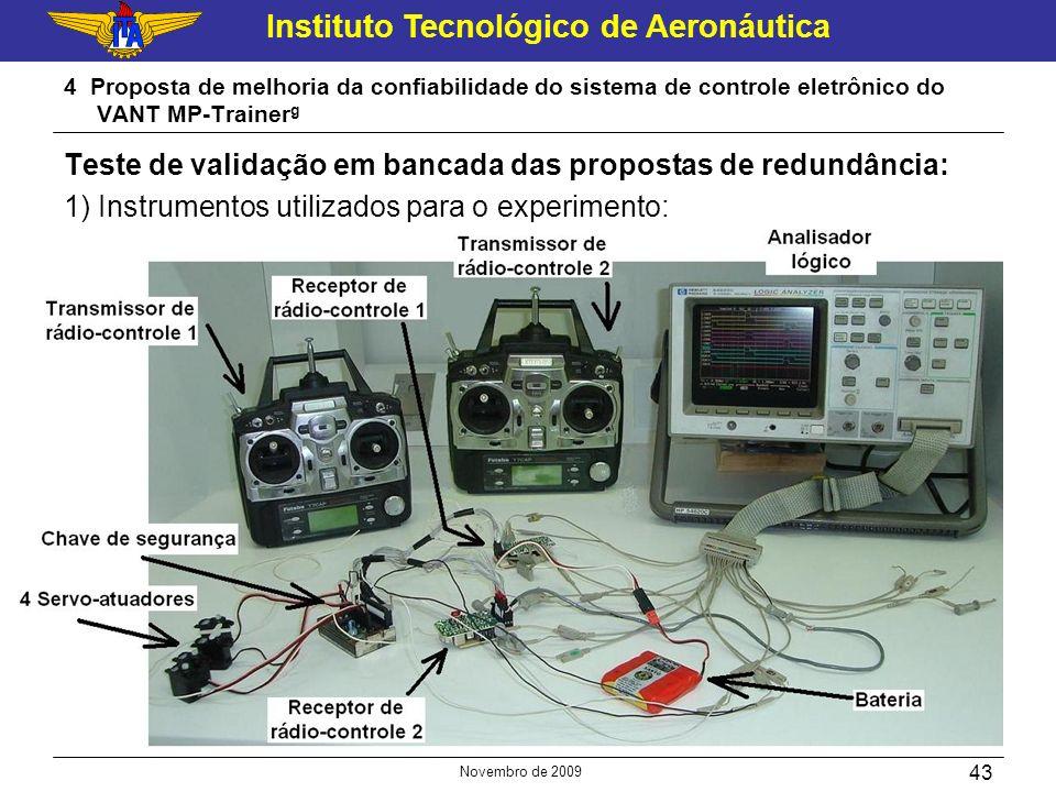 Instituto Tecnológico de Aeronáutica Novembro de 2009 43 4 Proposta de melhoria da confiabilidade do sistema de controle eletrônico do VANT MP-Trainer