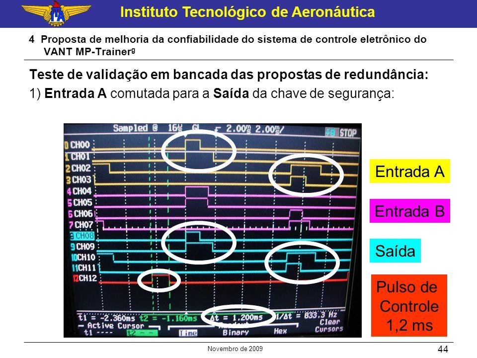 Instituto Tecnológico de Aeronáutica Novembro de 2009 44 4 Proposta de melhoria da confiabilidade do sistema de controle eletrônico do VANT MP-Trainer