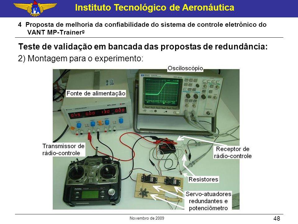 Instituto Tecnológico de Aeronáutica Novembro de 2009 48 4 Proposta de melhoria da confiabilidade do sistema de controle eletrônico do VANT MP-Trainer