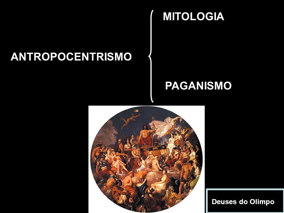 ANTROPOCENTRISMO MITOLOGIA PAGANISMO Deuses do Olimpo