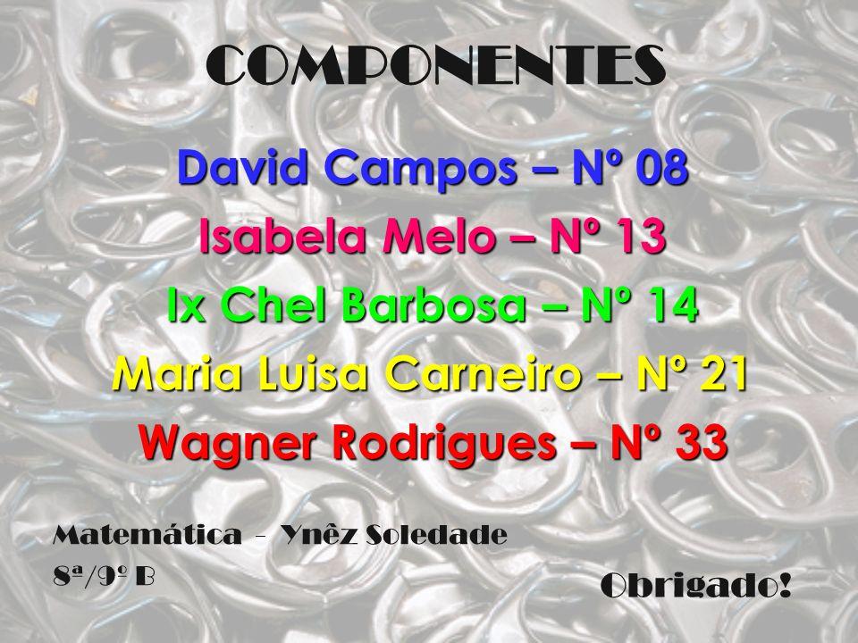 COMPONENTES David Campos – Nº 08 Isabela Melo – Nº 13 Ix Chel Barbosa – Nº 14 Maria Luisa Carneiro – Nº 21 Wagner Rodrigues – Nº 33 Matemática - Ynêz
