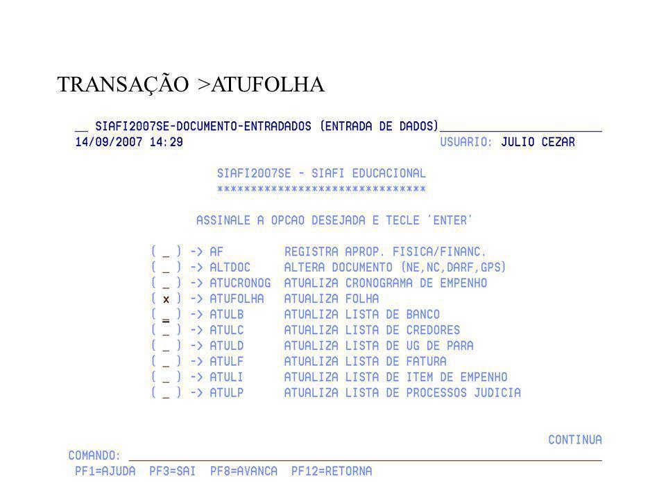 TRANSAÇÃO >ATUFOLHA