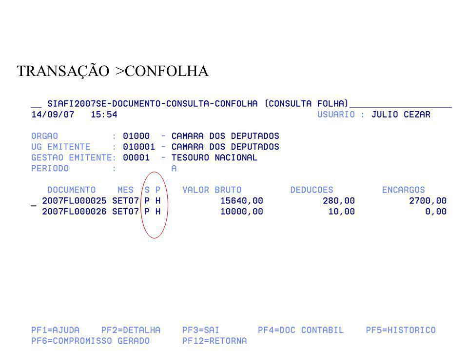 TRANSAÇÃO >CONFOLHA