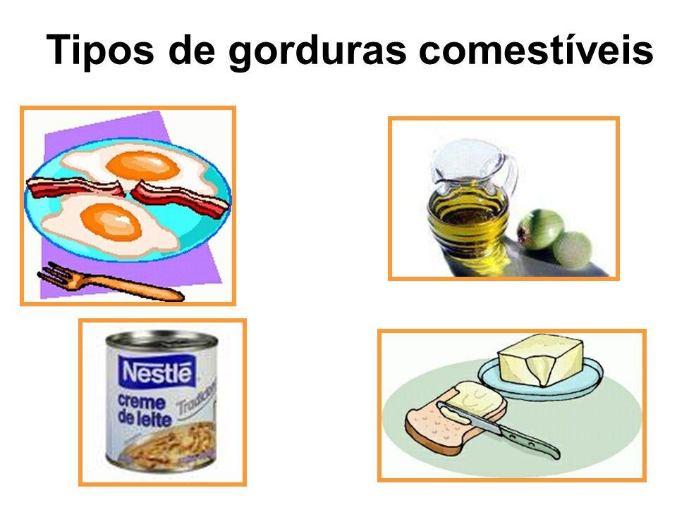 Tipos de gorduras comestíveis