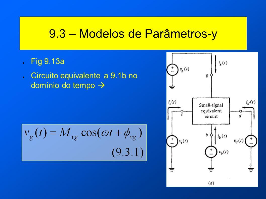 9.3 – Modelos de Parâmetros-y Fig 9.13a Circuito equivalente a 9.1b no domínio do tempo
