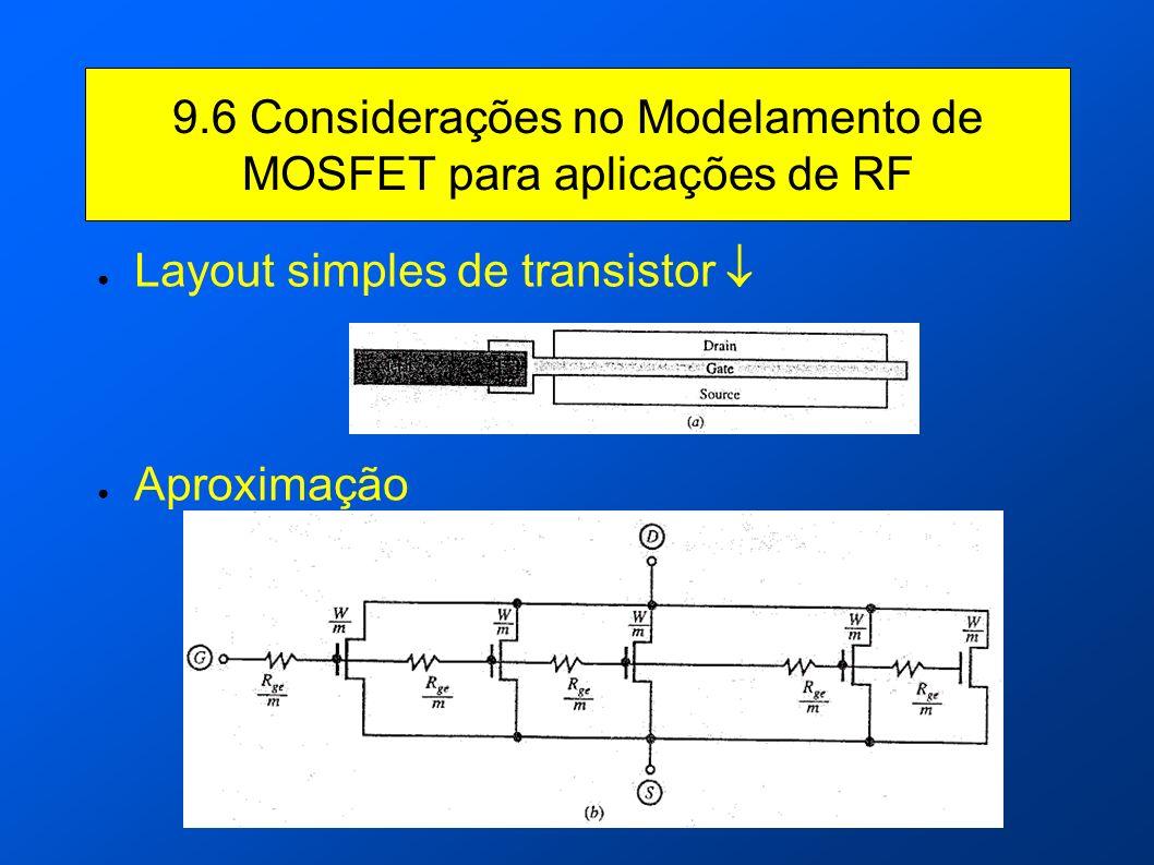 Layout simples de transistor Aproximação 9.6 Considerações no Modelamento de MOSFET para aplicações de RF