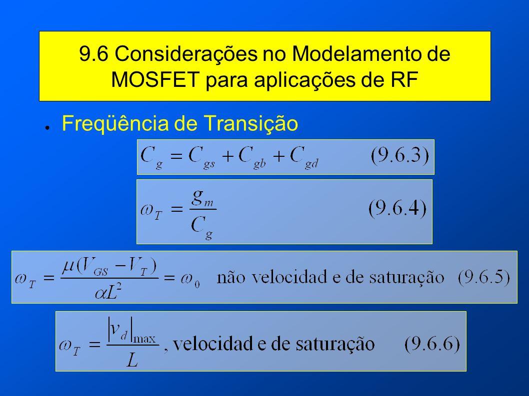 9.6 Considerações no Modelamento de MOSFET para aplicações de RF Freqüência de Transição