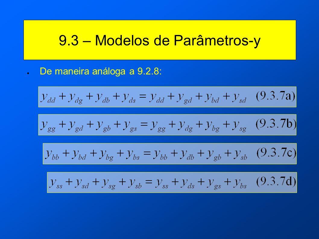 9.3 – Modelos de Parâmetros-y De maneira análoga a 9.2.8: