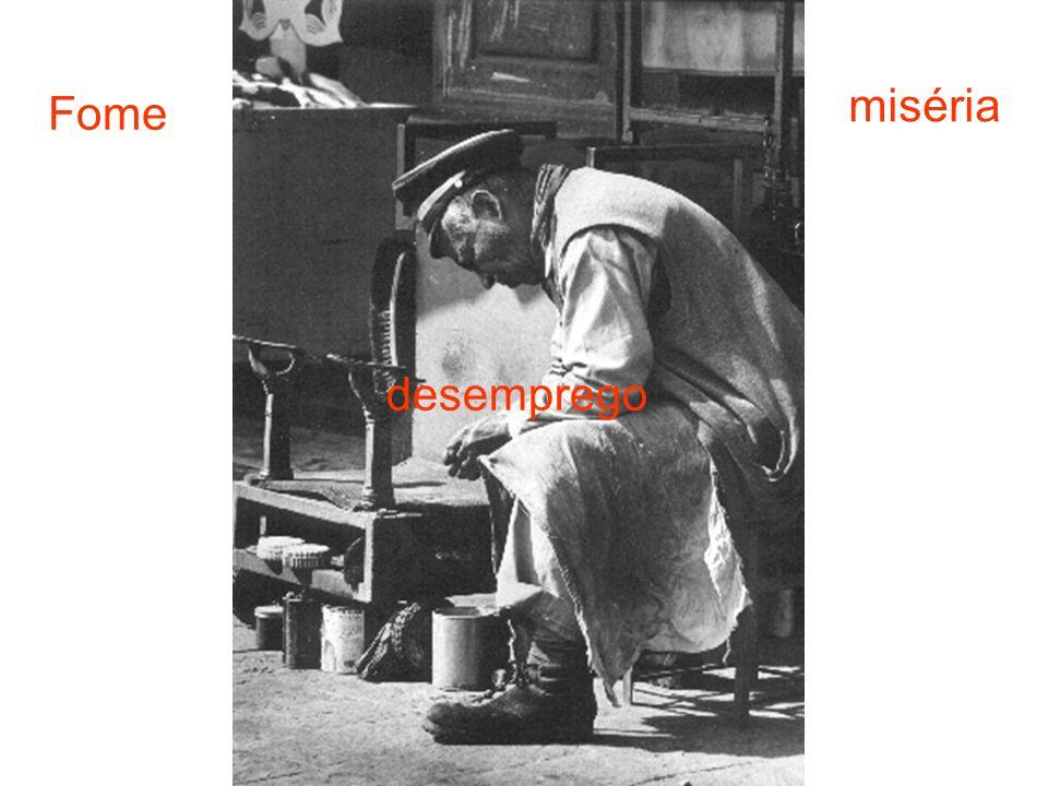 Fome miséria desemprego