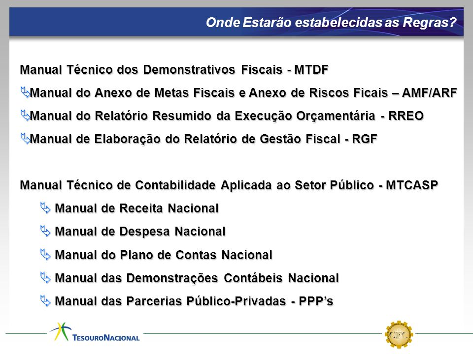 Manual Técnico dos Demonstrativos Fiscais - MTDF Manual do Anexo de Metas Fiscais e Anexo de Riscos Ficais – AMF/ARF Manual do Anexo de Metas Fiscais