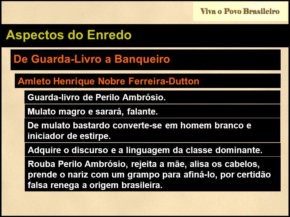 Viva o Povo Brasileiro Aspectos do Enredo De Guarda-Livro a Banqueiro Amleto Henrique Nobre Ferreira-Dutton Guarda-livro de Perilo Ambrósio. Mulato ma