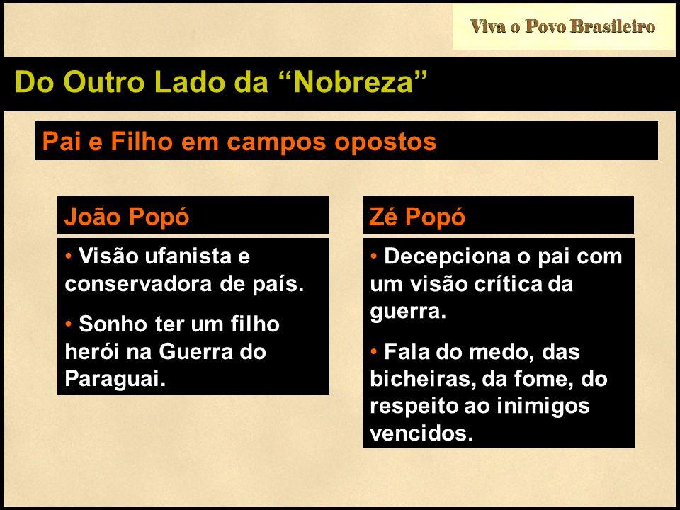 Viva o Povo Brasileiro Do Outro Lado da Nobreza Pai e Filho em campos opostos Visão ufanista e conservadora de país. Sonho ter um filho herói na Guerr