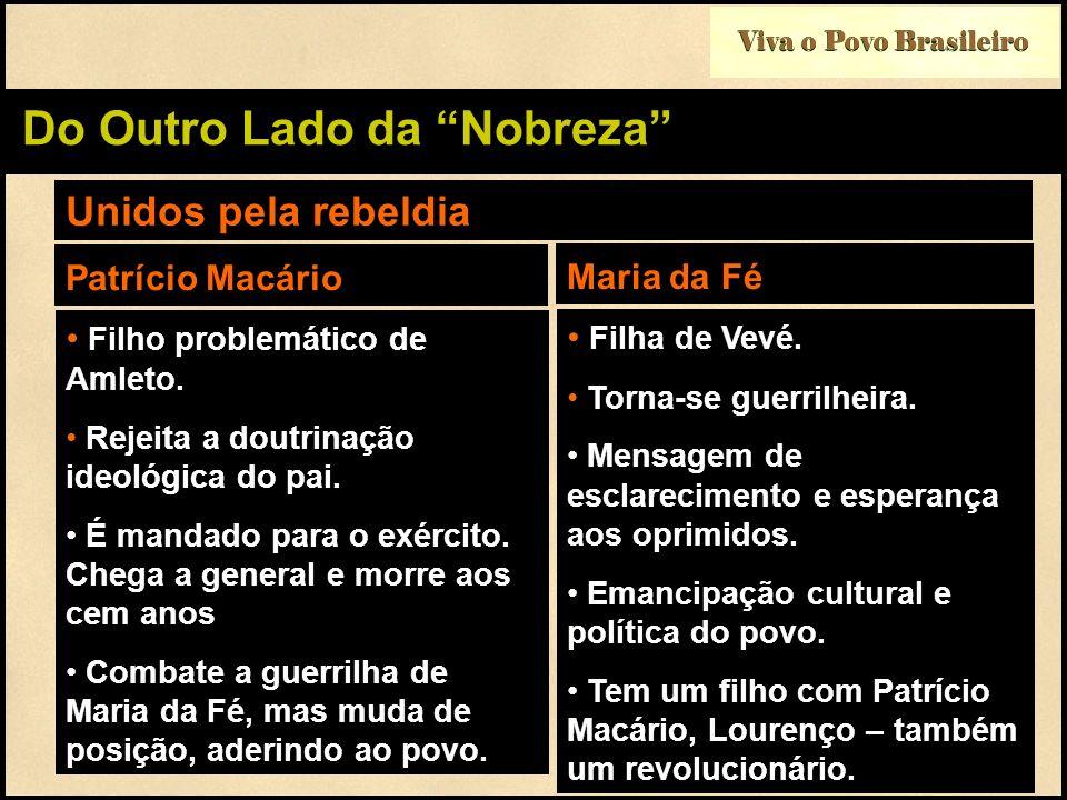 Viva o Povo Brasileiro Do Outro Lado da Nobreza Unidos pela rebeldia Filho problemático de Amleto. Rejeita a doutrinação ideológica do pai. É mandado