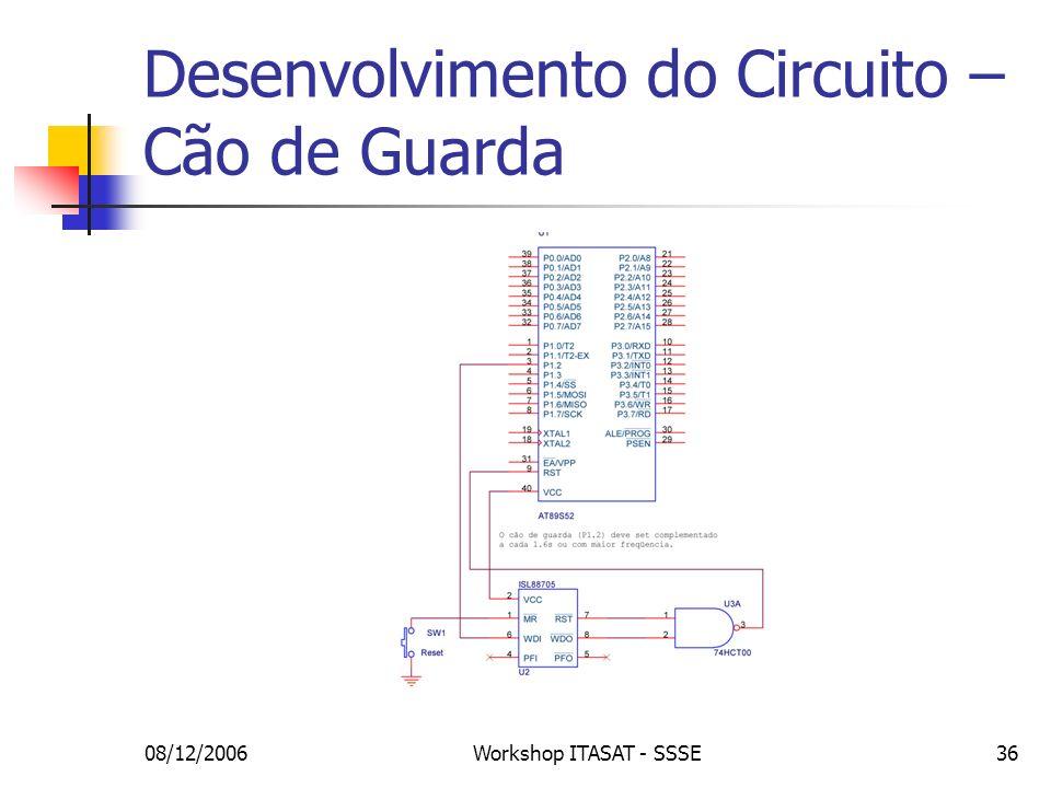08/12/2006Workshop ITASAT - SSSE36 Desenvolvimento do Circuito – Cão de Guarda