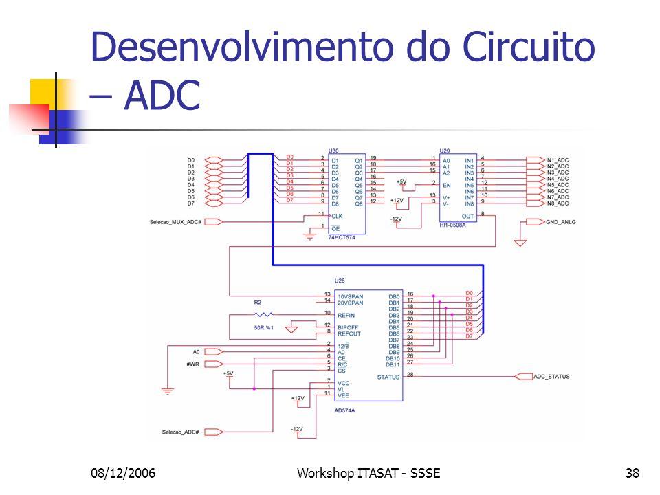 08/12/2006Workshop ITASAT - SSSE38 Desenvolvimento do Circuito – ADC