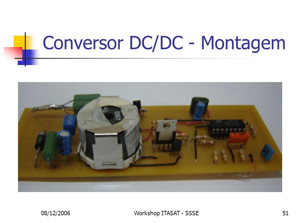 08/12/2006Workshop ITASAT - SSSE51 Conversor DC/DC - Montagem