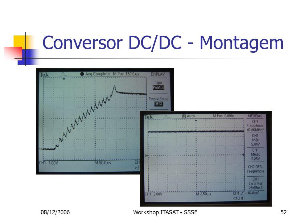 08/12/2006Workshop ITASAT - SSSE52 Conversor DC/DC - Montagem