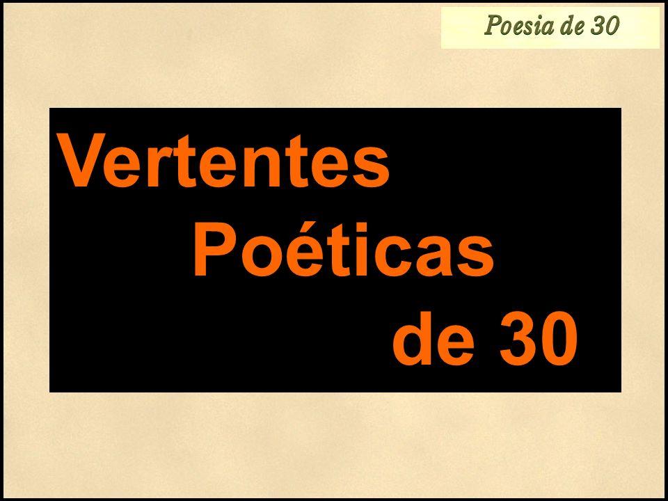 Poesia de 30 Vertentes Poéticas de 30