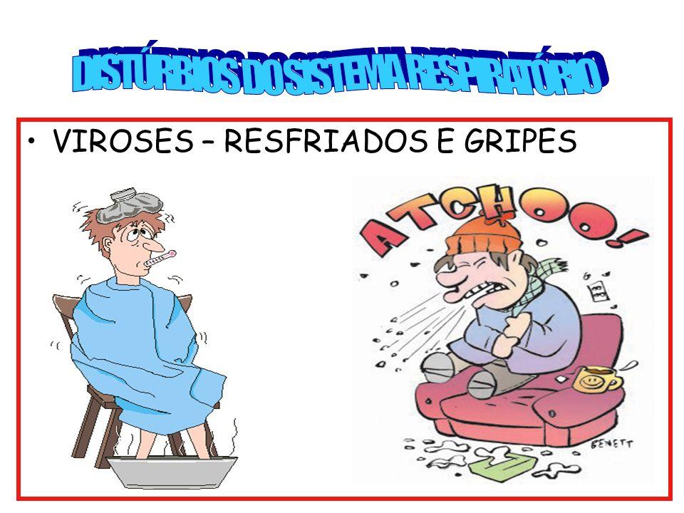 VIROSES – RESFRIADOS E GRIPES