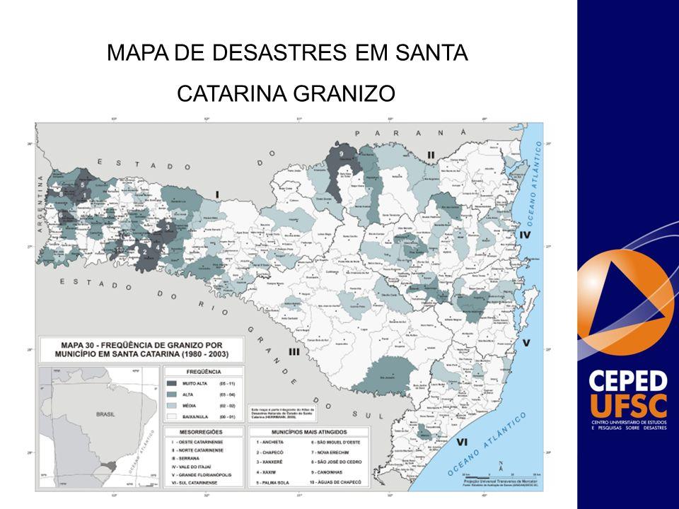 Justificativa da Proposição: Durante a catástrofe em Novembro de 2008, ocorreram inundações e deslizamentos em diversos municípios catarinenses.