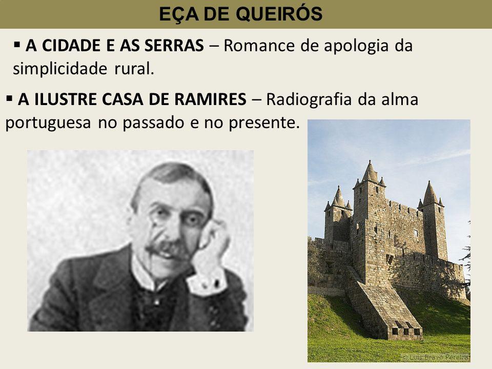 EÇA DE QUEIRÓS Correspondência de Fradique Mendes Vem colocar em cheque os valores da elite aristocrática Portuguesa.