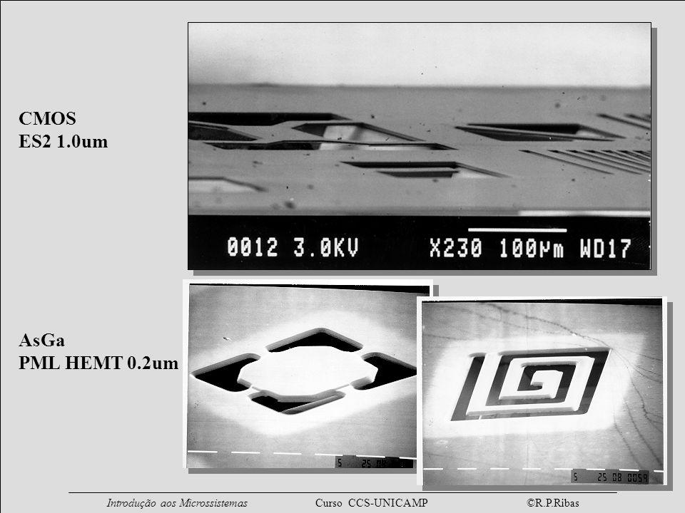 Introdução aos Microssistemas Curso CCS-UNICAMP ©R.P.Ribas CMOS ES2 1.0um AsGa PML HEMT 0.2um