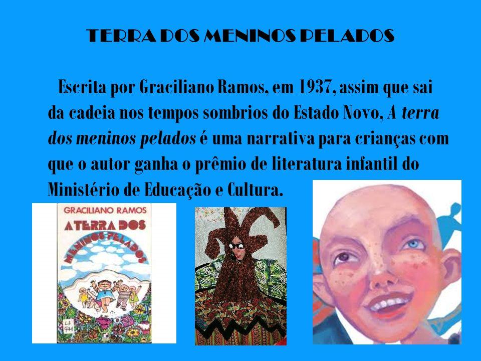 TERRA DOS MENINOS PELADOS Escrita por Graciliano Ramos, em 1937, assim que sai da cadeia nos tempos sombrios do Estado Novo, A terra dos meninos pelad