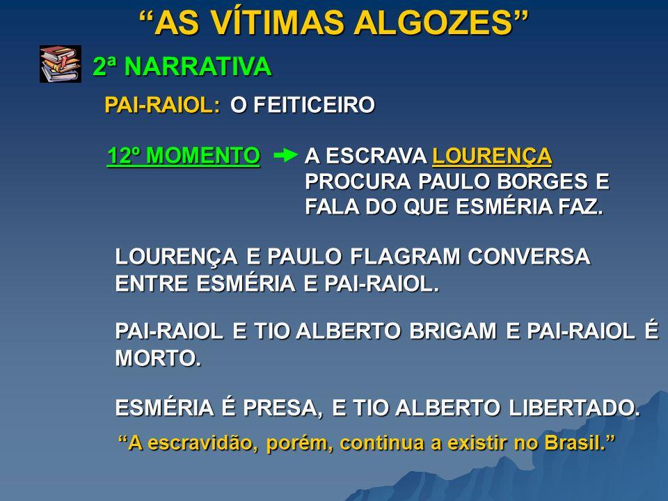 AS VÍTIMAS ALGOZES 2ª NARRATIVA A ESCRAVA LOURENÇA PROCURA PAULO BORGES E FALA DO QUE ESMÉRIA FAZ. 12º MOMENTO PAI-RAIOL: O FEITICEIRO LOURENÇA E PAUL