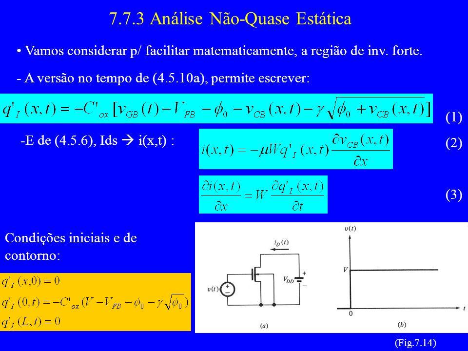 7.7.3 Análise Não-Quase Estática Vamos considerar p/ facilitar matematicamente, a região de inv.