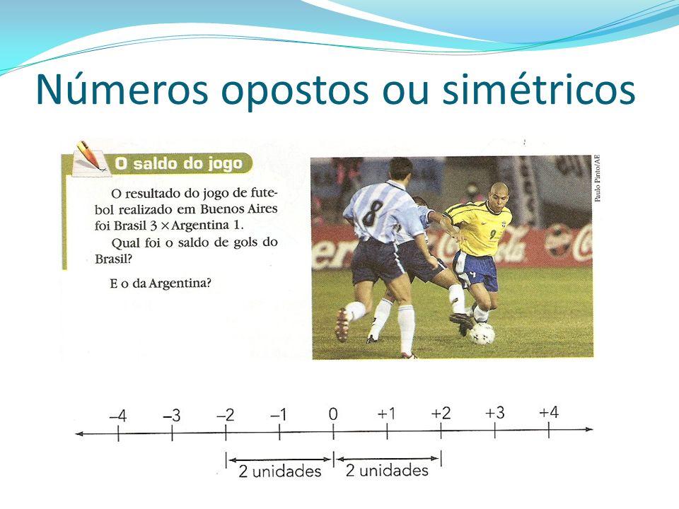 Números opostos ou simétricos