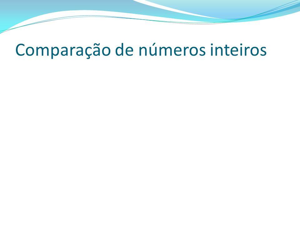 Comparação de números inteiros