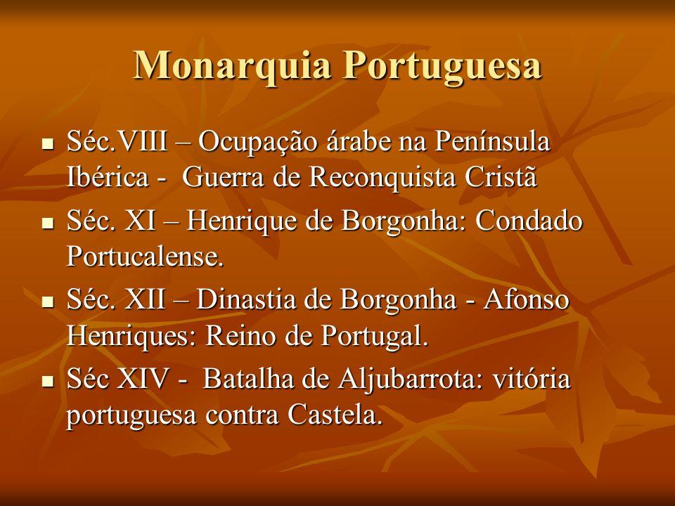 Monarquia Portuguesa Séc.VIII – Ocupação árabe na Península Ibérica - Guerra de Reconquista Cristã Séc.VIII – Ocupação árabe na Península Ibérica - Gu