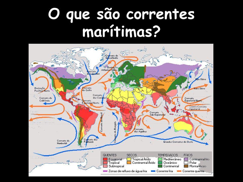 O que são correntes marítimas?